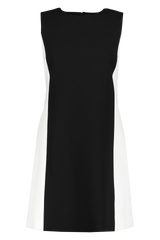 Front view image of Alice & Olivia Clyde Princess Aline Shift Dress Black