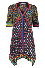 Front Image of Alice & Olivia Conner Handkerchief Shirt Dress