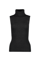 Front view image of Alice & Olivia Darcey Turtleneck Sweater Tank