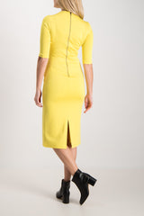 Debora Fitted Mock Neck Dress