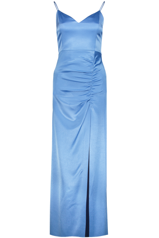 Front Image Diana High Slit Maxi Dress Cornflower Blue