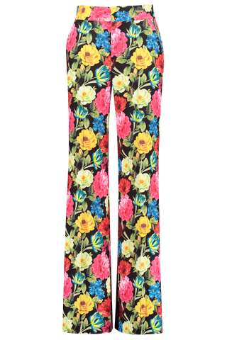 Front view image of Alice & Olivia Women's Dylan Wide Leg Pant