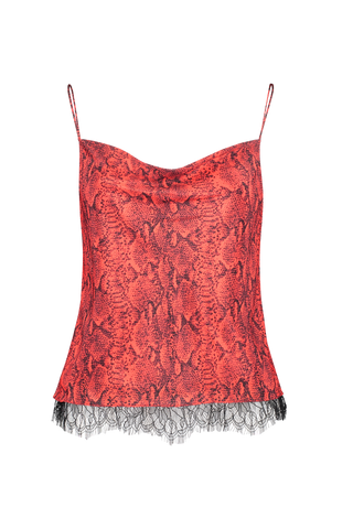 Front image of Alice & Olivia Harmon Tiered Drapey Tank