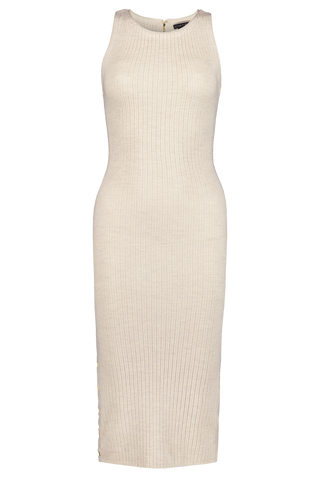 Front Image of Alice + Olivia Jenner Crewneck Slim Dress