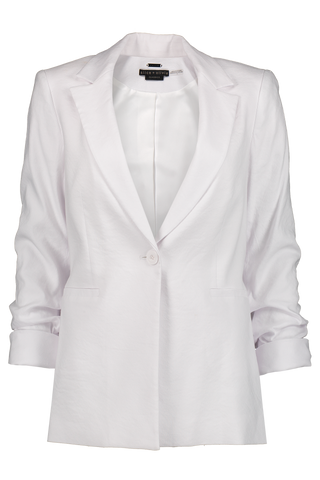 Jonelle Notch Collar Blazer White