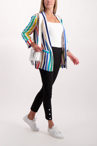 Full Body Image Of Model Wearing Kylie Easy Shawl Collar Jacket