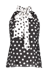 Front image of Alice & Olivia Liana High Bow Neck Top