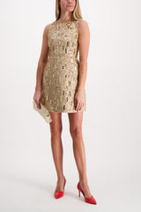 Front Image of Model Wearing Lindsey Embellished Structured Dress