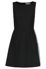 Lindsey Structured Dress Black/White