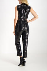 Lyle Embellished Shawl Collar Jumpsuit