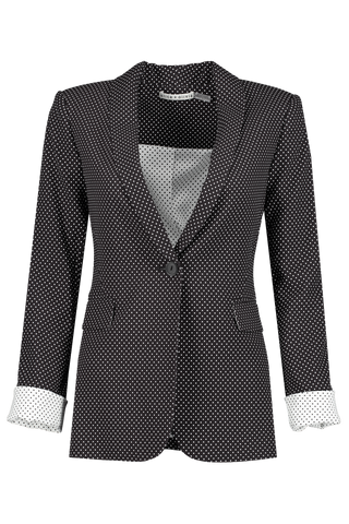 Macey Fitted Blazer Mini/Dot Black Combo