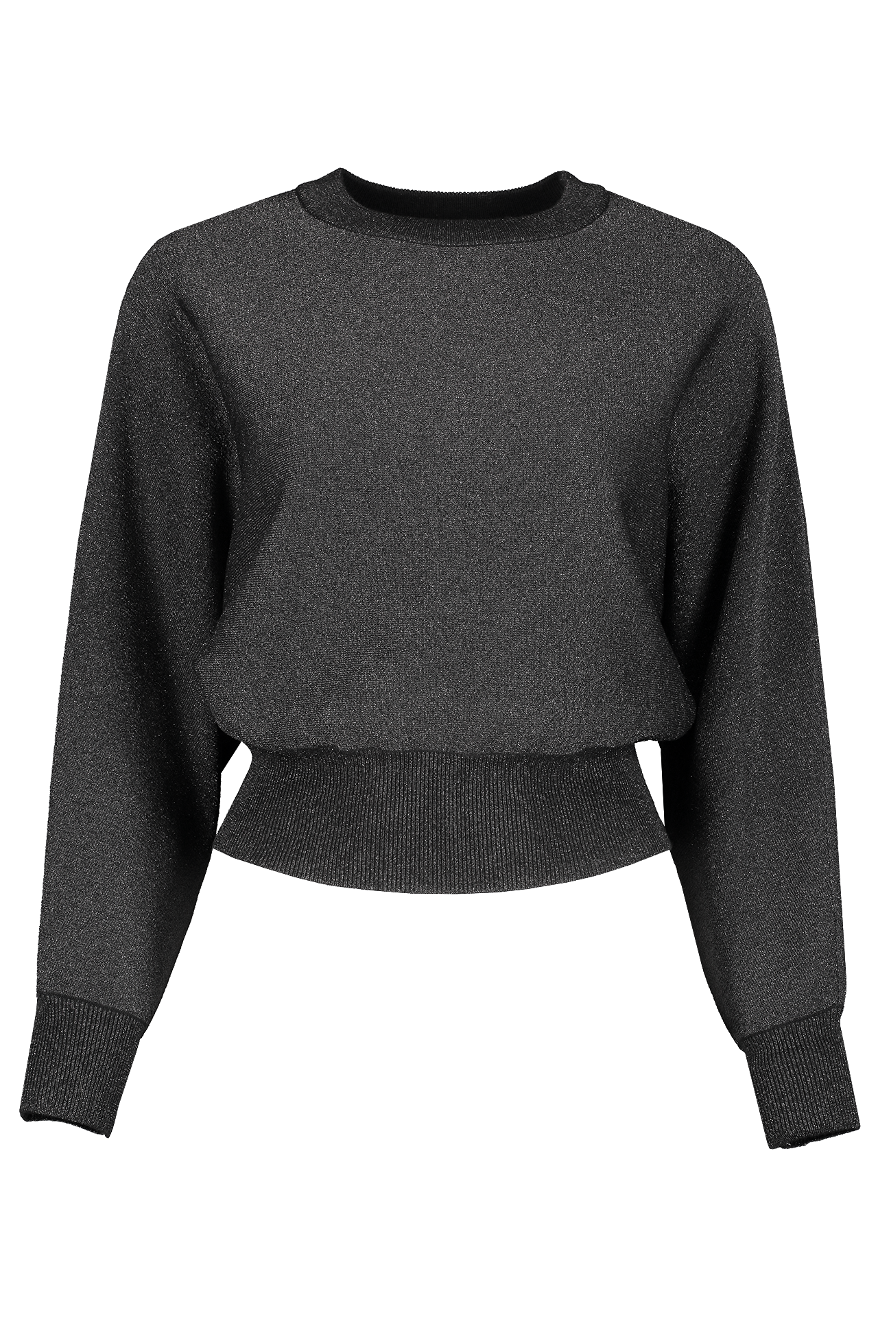 Front view image of Alice & Olivia Women's Maire Crop Pullover Black
