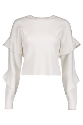 Nettie Ruffle Crewneck Sweater