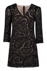 Riska Embellished Full Sleeve Dress