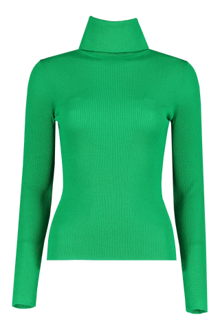 Front image of Alice & Olivia Roberta Rib Turtleneck