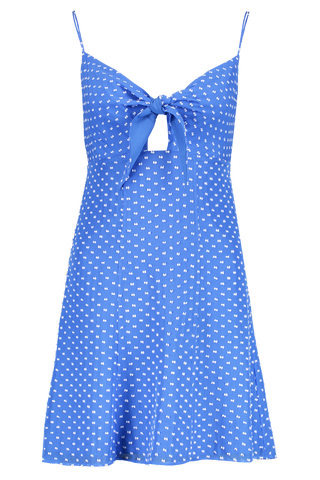 Front Image Roe Tie Front Flare Dress