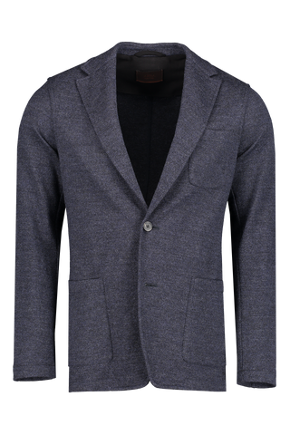 Front view image of Altea Jersey Blazer Blue
