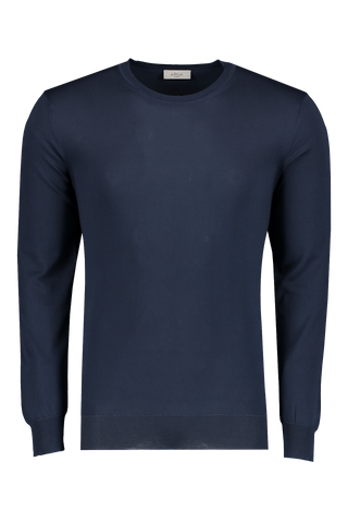 Front view image of Altea Men's Navy Cotton Sweater