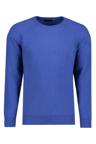 Front view image of Altea Wool Cashmere Crew Bluette