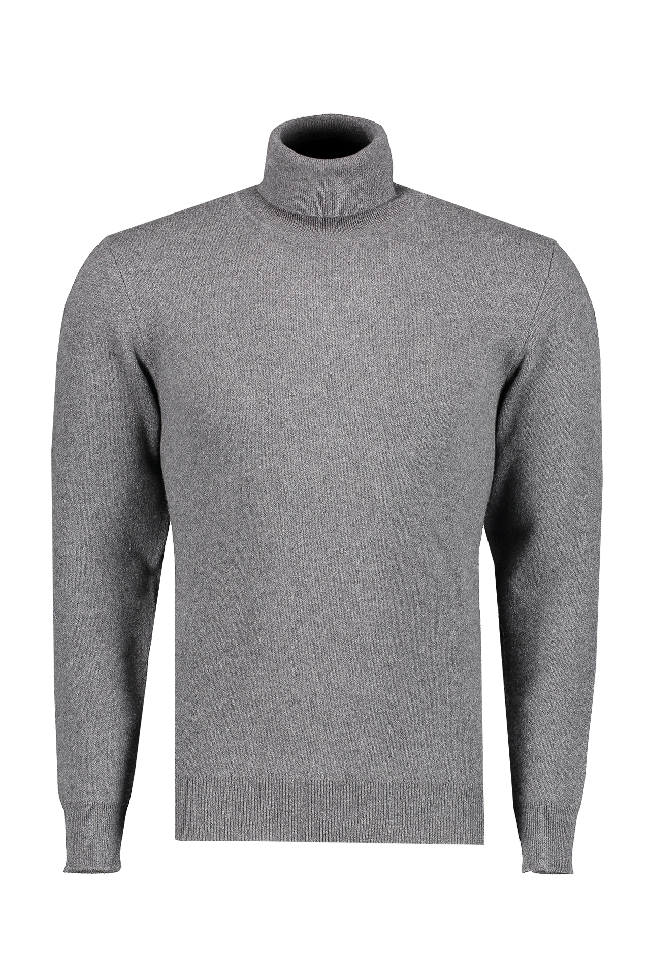 Front view image of Altea Men's Wool Cashmere Turtleneck Grigio Scuro