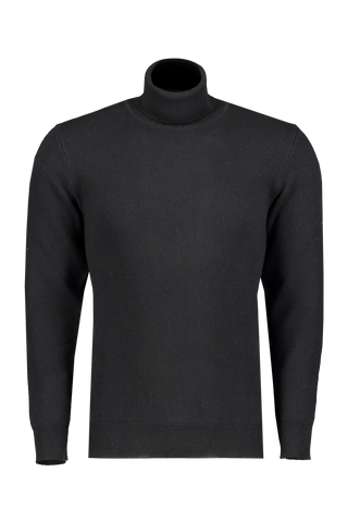 Front view image of Altea Men's Wool Cashmere Turtleneck Nero