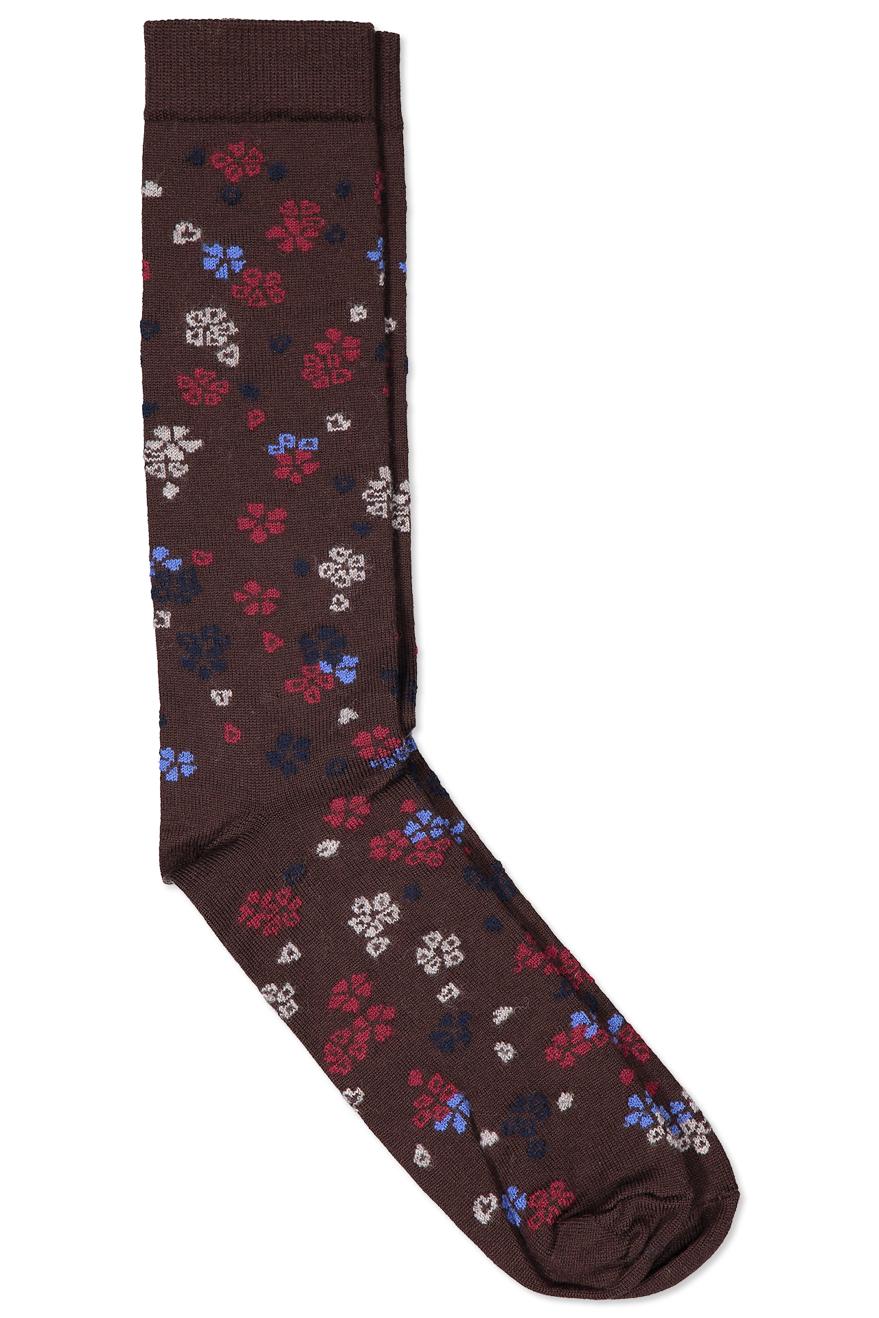 Superfine Merino Floral Sock
