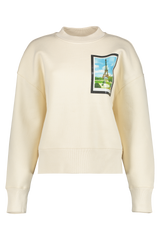 Front view image of AMI Women's Postcard Sweatshirt