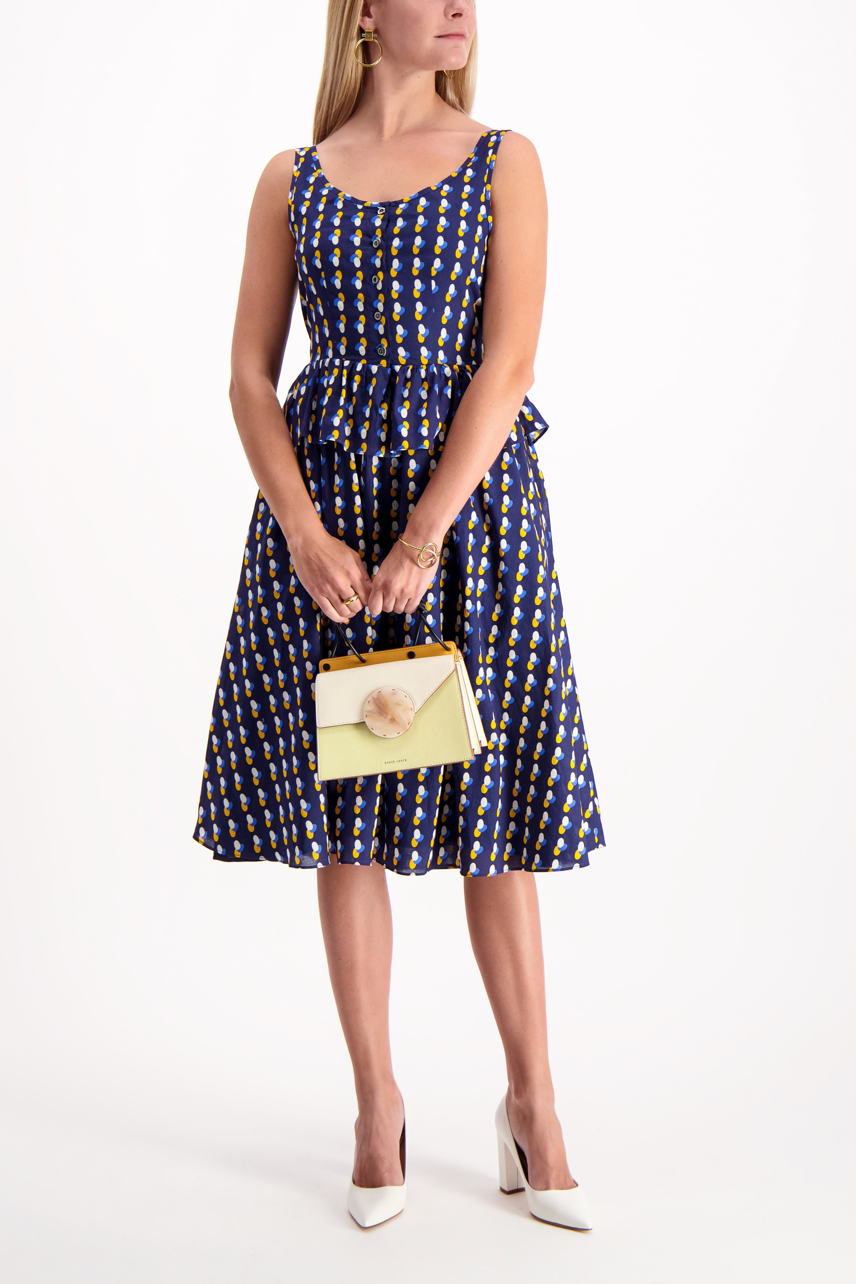 Full Body Image Of Model Wearing A.P.C. Murano Dress