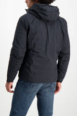 Back Crop Image Of Model Wearing Arc'teryx Veilance Men's Anneal Black Down Jacket Black