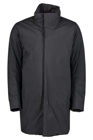 Front Image Of Arc'teryx Veilance Euler Long Sleeve Coat In Black