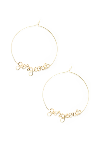 Front image of Atelier Paulin Gorgeous Hoop Earrings Gold
