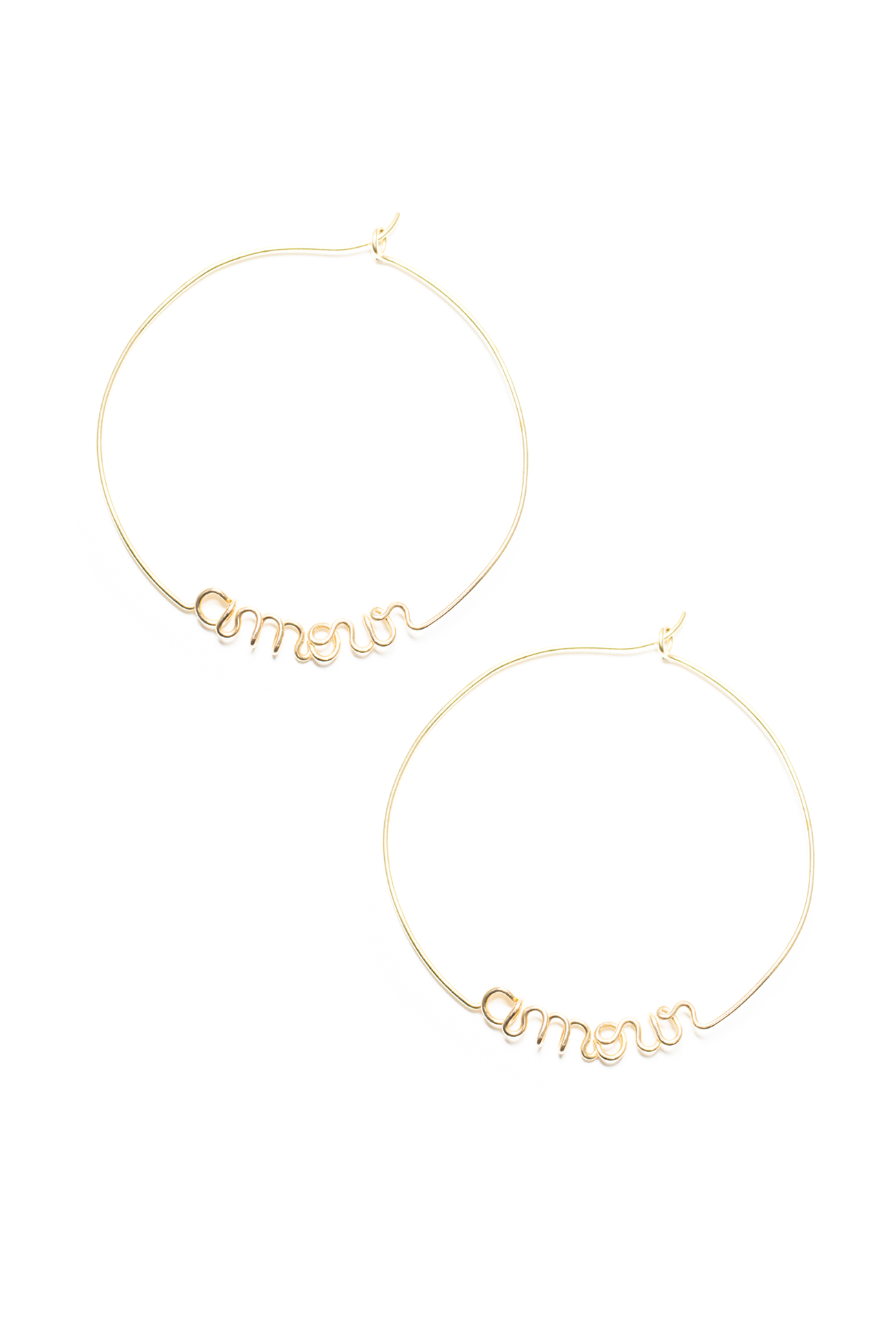 Front image of Atelier Paulin Amour Hoop Earrings Gold