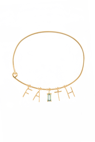 Faith 18k Gold Charm Bracelet