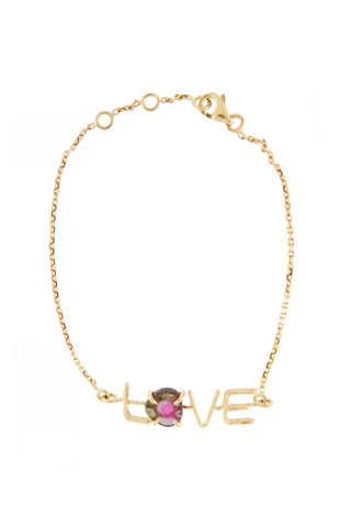 Love 18k Gold and Tourmaline Bracelet