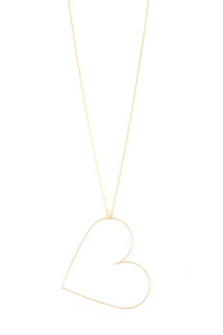 Mini Nude Heart Necklace