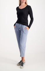 CROMA WASH PULL ON CROPPED PANT BLUE