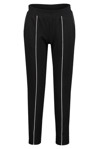 Front View Image of French Terry Pull On Pant Black