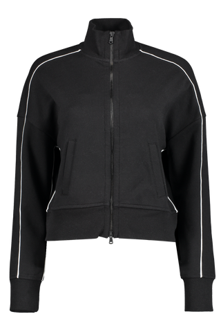 Front view image of French Terry Zip Up Jacket Black