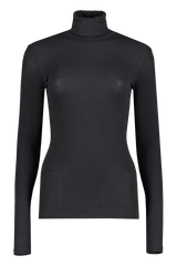 Front view image of ATM Long Sleeve Micro Modal Rib Turtleneck