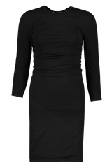 Front view image of ATM Pima Cotton Dress Black