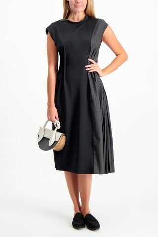 Full Body Image Of Model Wearing Base Mark Combination Dress