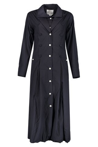 Long Sleeve Layered Dress Navy
