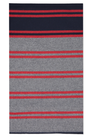 Front view image of Begg & Co Vigo Carney Lambswool Cashmere Flannel Red