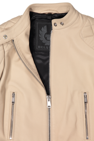 Belhaven Polished Nappa Leather Jacket Pale Oak