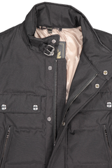 Front collar detail image of Belstaff Men's Cotton Twill Mountain Jacket