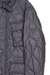 Front pocket and sleeve detail image of Belstaff Men's Course Jacket Navy