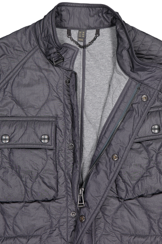 Front collar detail image of Belstaff Men's Course Jacket Navy