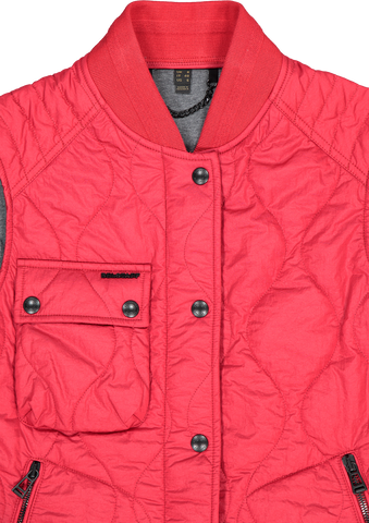 Front collar detail image of Belstaff Women's Ila Gilet Vest Belstaff Red