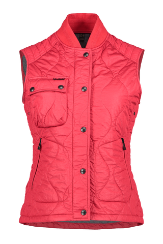 Front view image of Belstaff Women's Ila Gilet Vest Belstaff Red