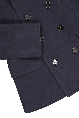 Hemline and cuff detail image of Belstaff Men's Naval Wool Peacoat